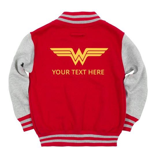 Custom Text Wonder Woman Kids