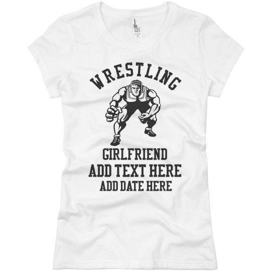 Custom Text Wrestling Girlfriend Tee