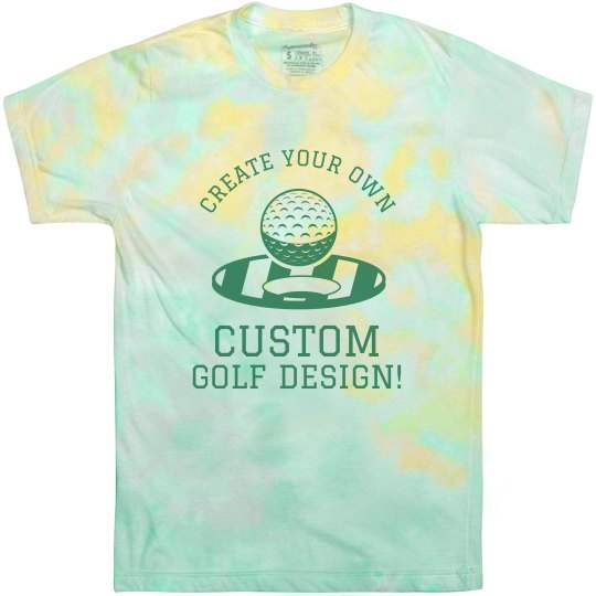 Custom Tie-Dye Golf Tee