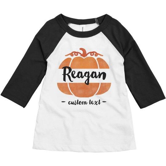 Custom Toddler Pumpkin Raglan