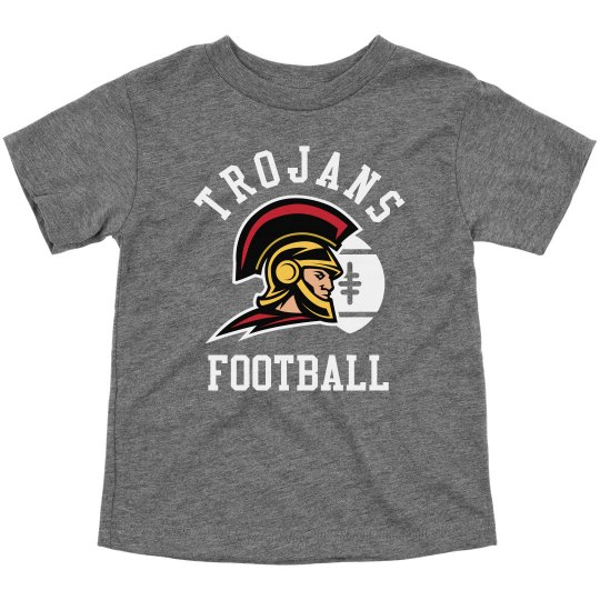Custom Toddler Trojan Football Tees