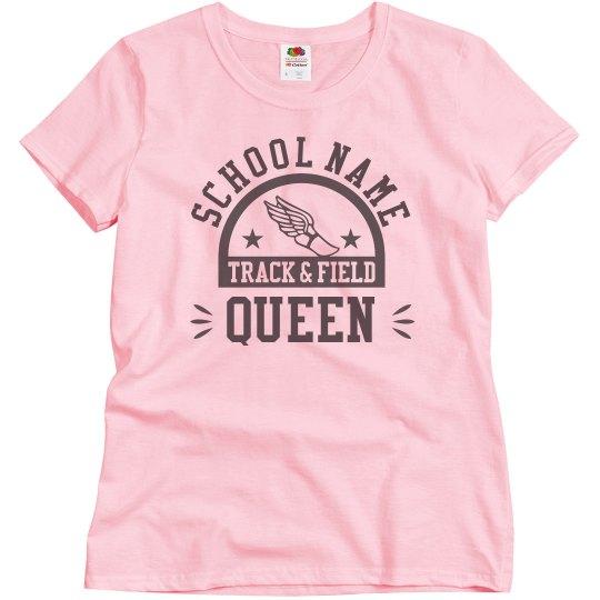 Custom Track & Field School Queen Tee