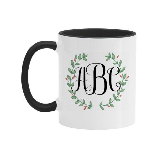 Custom Trendy Monogram Mug