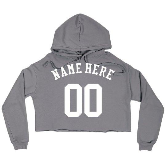 Custom Trendy Name Here Crop Hoodie