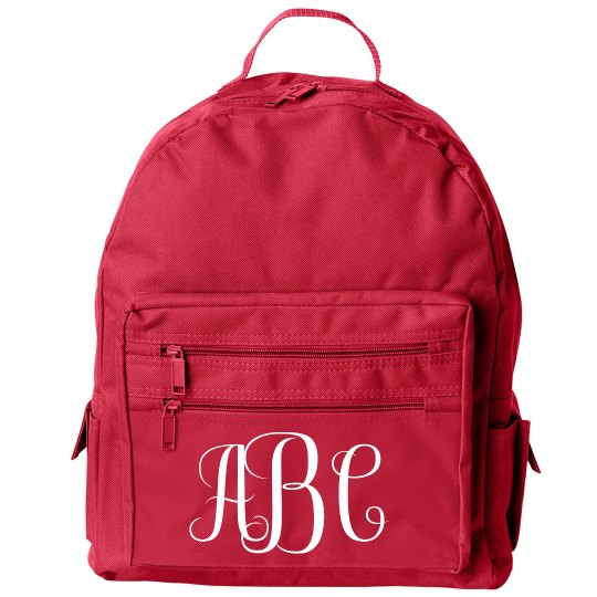 Custom Trendy School Initials