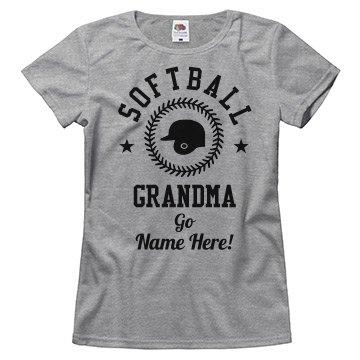 Custom Trendy Softball Grandma