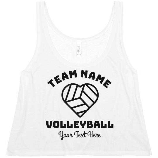 Custom Trendy Volleyball Team Text