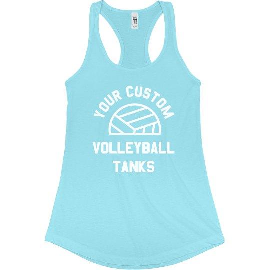 Custom Trendy Volleyball Text