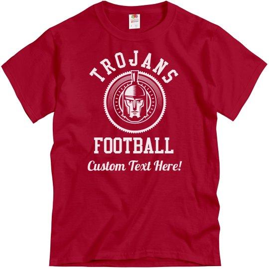 Custom Trojans Football Designs