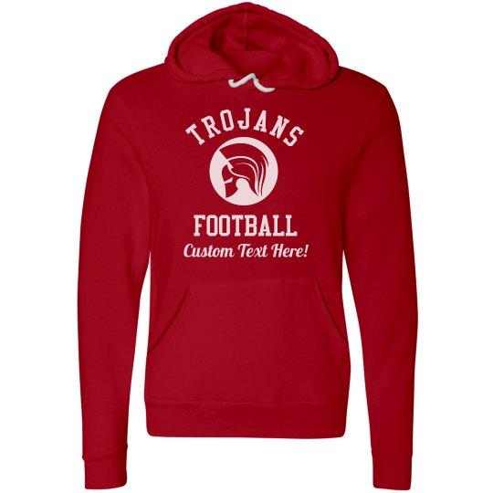 Custom Trojans Football Hoodies