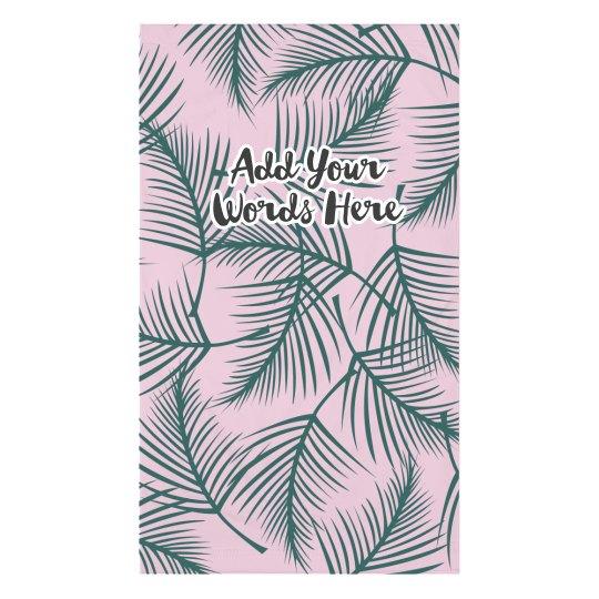 Custom Tropical Print Face Cover