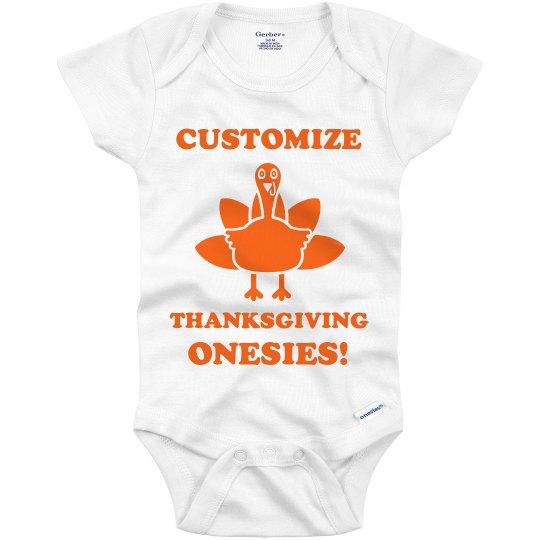 Custom Turkey Day Onesie