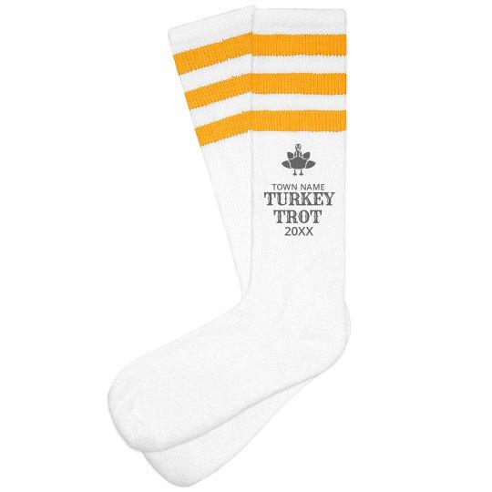 Custom Turkey Trot Running Socks