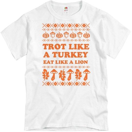 Custom Turkey Trot Ugly Sweater Tee