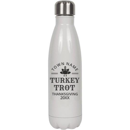 Custom Turkey Trot Water Bottle