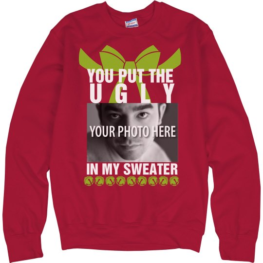 Custom Ugly Christmas Sweater Funny Gag Sweater