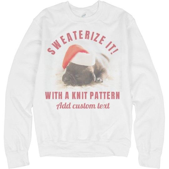 Custom Ugly Sweater Photo Upload