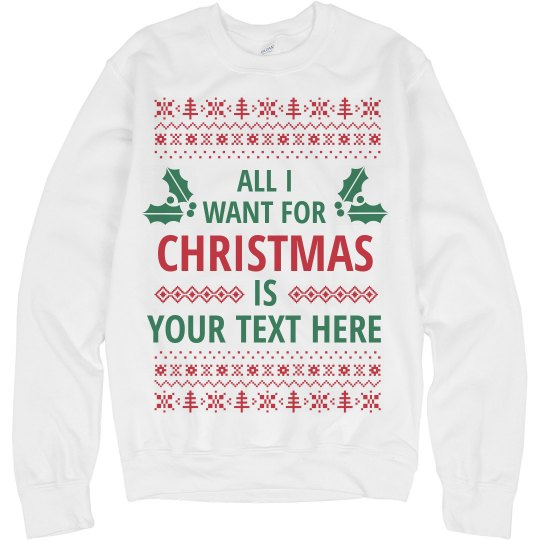 Custom Ugly Sweater Text