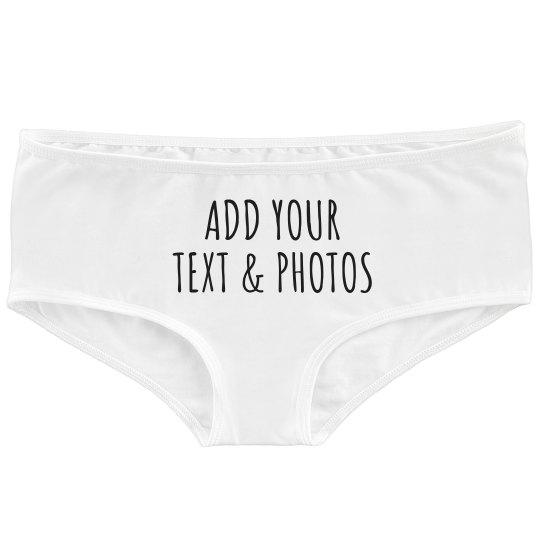 Custom Underwear Add Text & Photos
