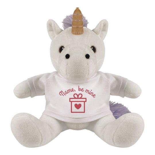 Custom unicorn be my valentine