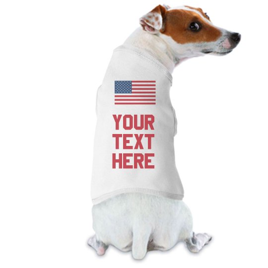 Custom USA Flag Dog Shirts