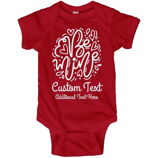 Custom Valentine Message Baby