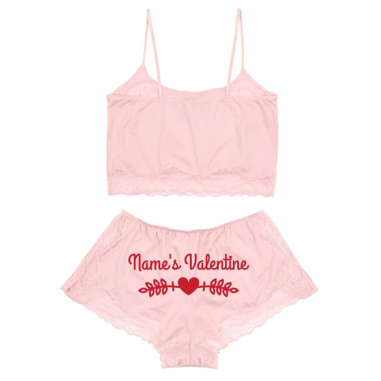 Custom Valentine Sexy Lingerie Lace Set
