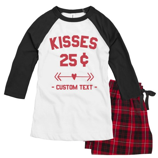 Custom Valentine's Day Kisses Pajamas