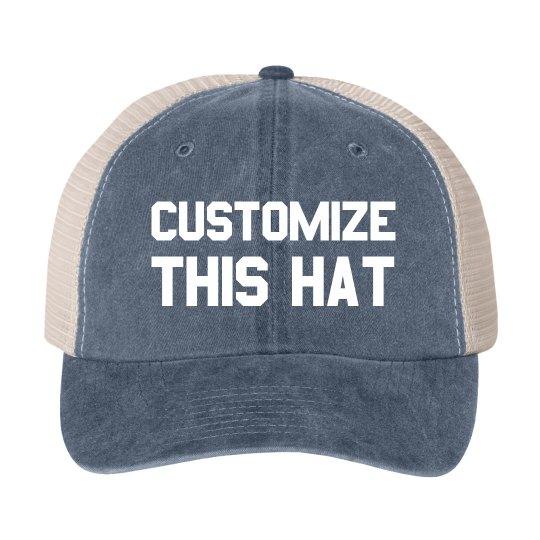 Custom Varsity Font Hat