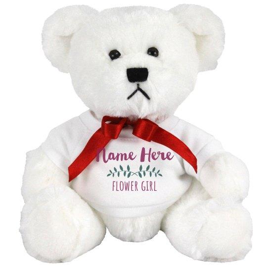 Custom Vine Flower Girl Bear