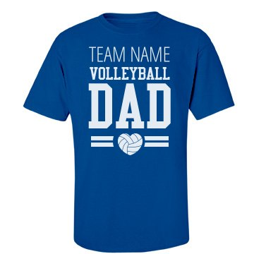 Custom volleyball dad for Volleyball custom t shirts