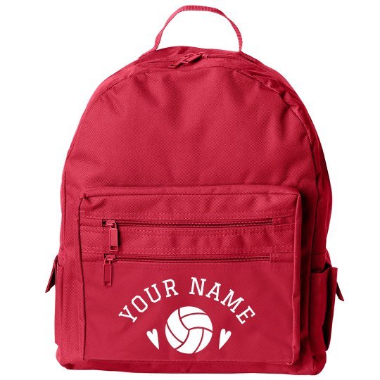 Custom Volleyball Girl Backpack