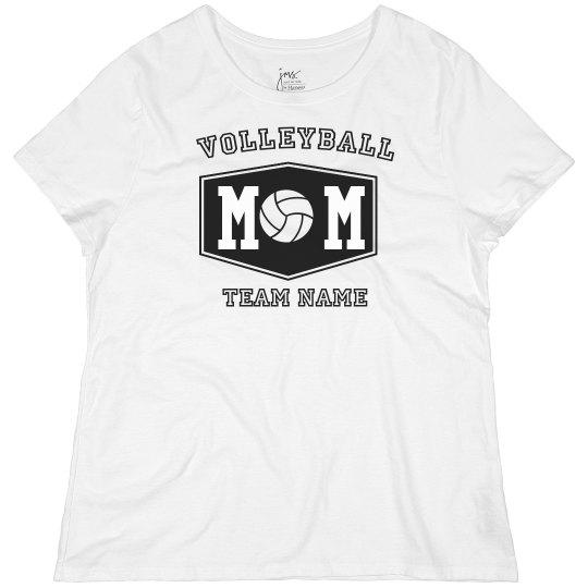 Custom Volleyball Mom Plus Tee