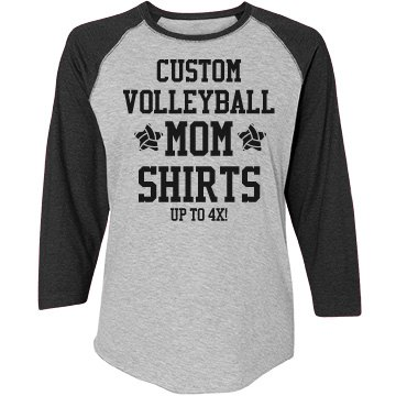 Custom volleyball mom shirts for Volleyball custom t shirts