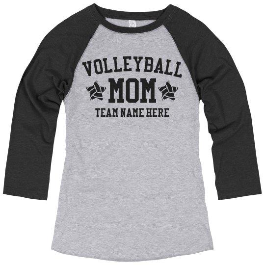 Custom Volleyball Mom Team Raglan