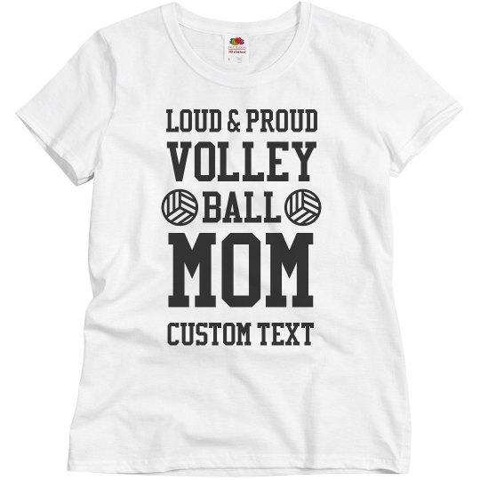 Custom Volleyball Mom Tee