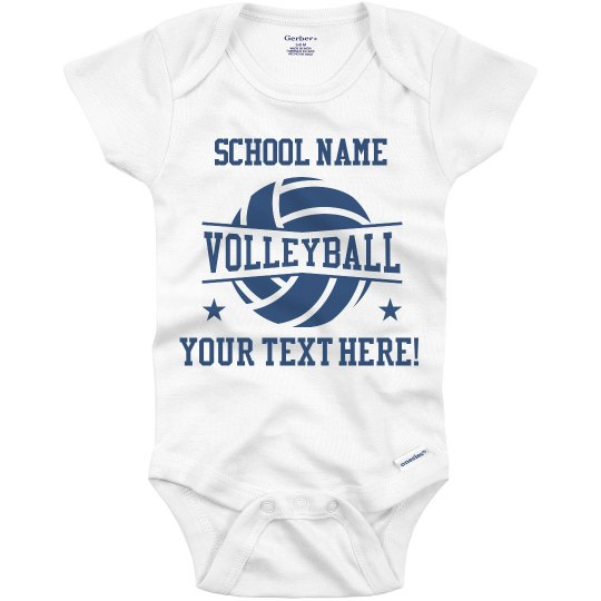 Custom Volleyball Team Fan Baby