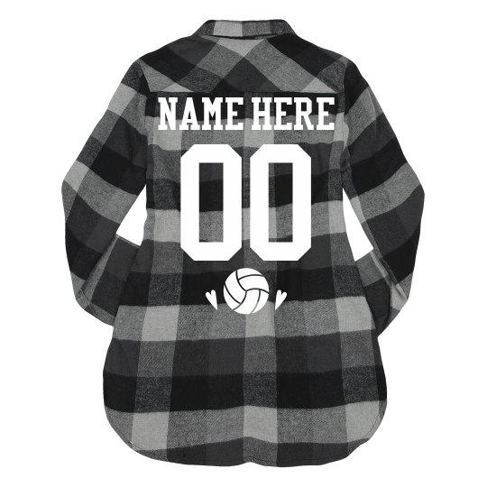 Custom Volleyball Team Flannel