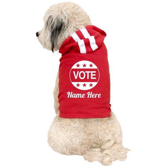 Custom Vote Name Doggie Hoodie