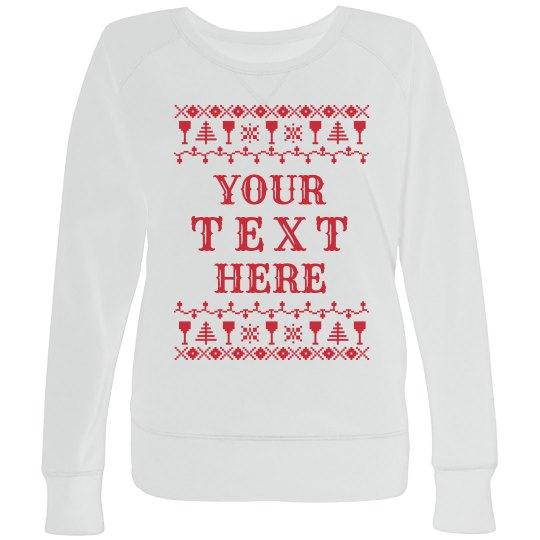 Custom Wine Ugly Sweater Plus Size