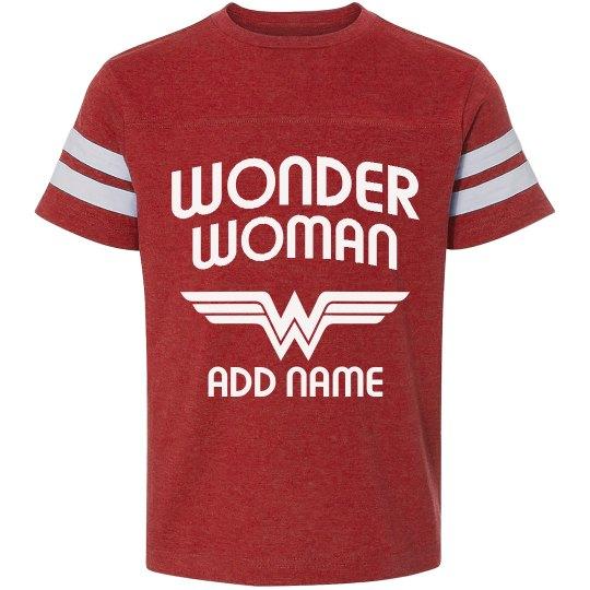 Custom Wonder Woman Youth Tee