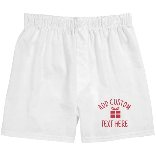Custom Words Christmas Boxers