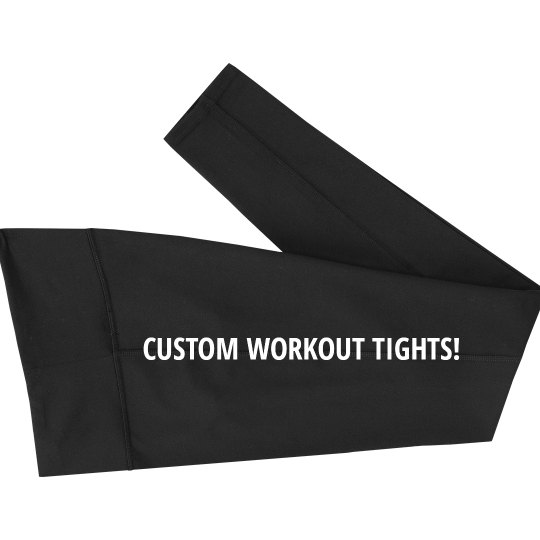 Custom Workout Tights Add Text
