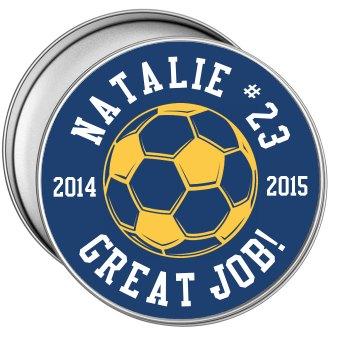 Custom Year End Soccer Season Treats Tin