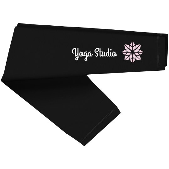 Custom Yoga Studio Flower Leggings