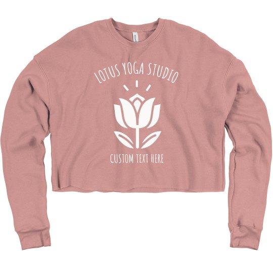 Custom Yoga Studio Lotus Flower Crop Yogi