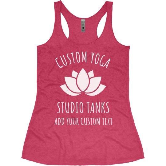 Custom Yoga Studio Lotus Tanks