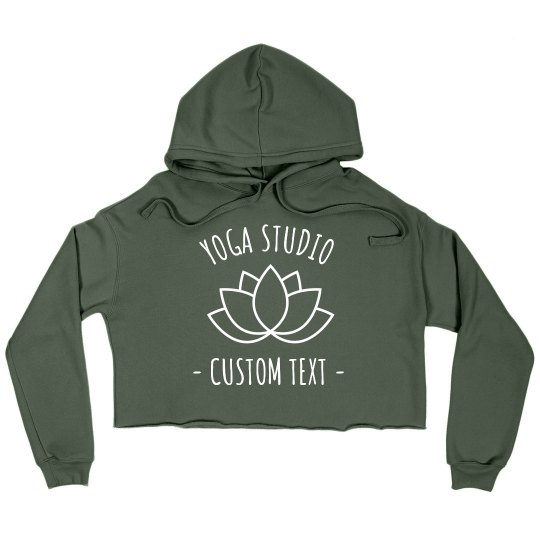 Custom Yoga Studio Sweatshirt Crop