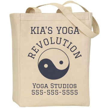 Custom Yoga Studio Tote