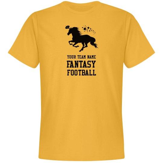 Custom Your Team Name Fantasy FootbaLL Unicorn Tee
